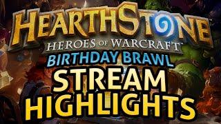 Hearthstone: Birthday Brawl - Stream Highlights [strong language]