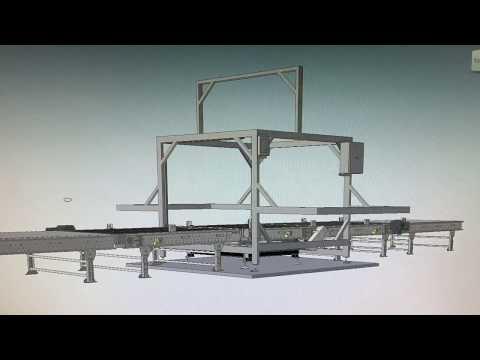 видео: Линия для регистрации упакованных грузов перед транспортировкой