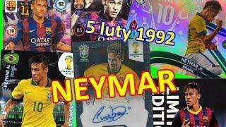 Neymar JR - urodziny 05.luty - karty Panini - limited edition, top master, star player - birthday