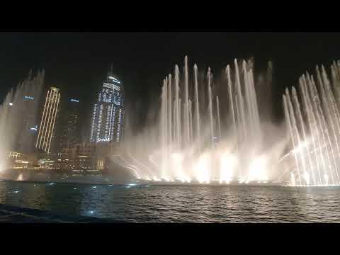 Dubai musical fountains 2020