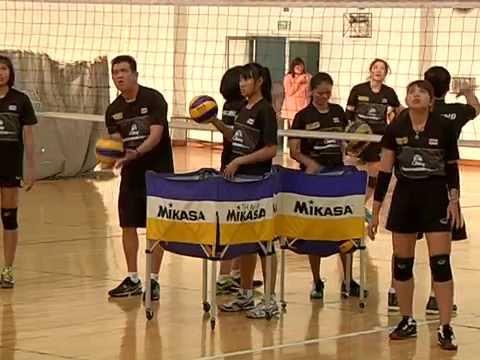 วอลเลย์บอลหญิงทีมชาติไทยซ้อม โค้ชอ๊อดติวเข้มทัดดาว