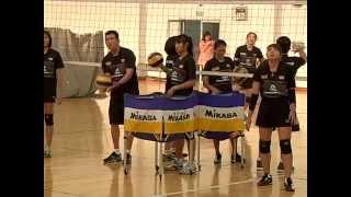 วอลเลย์บอลหญิงทีมชาติไทยซ้อม-โค้ชอ๊อดติวเข้มทัดดาว
