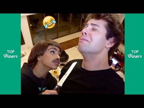 TRY NOT TO LAUGH - FUNNY David Dobrik Vines Compilation w/ Scotty Sire, Liza Koshy
