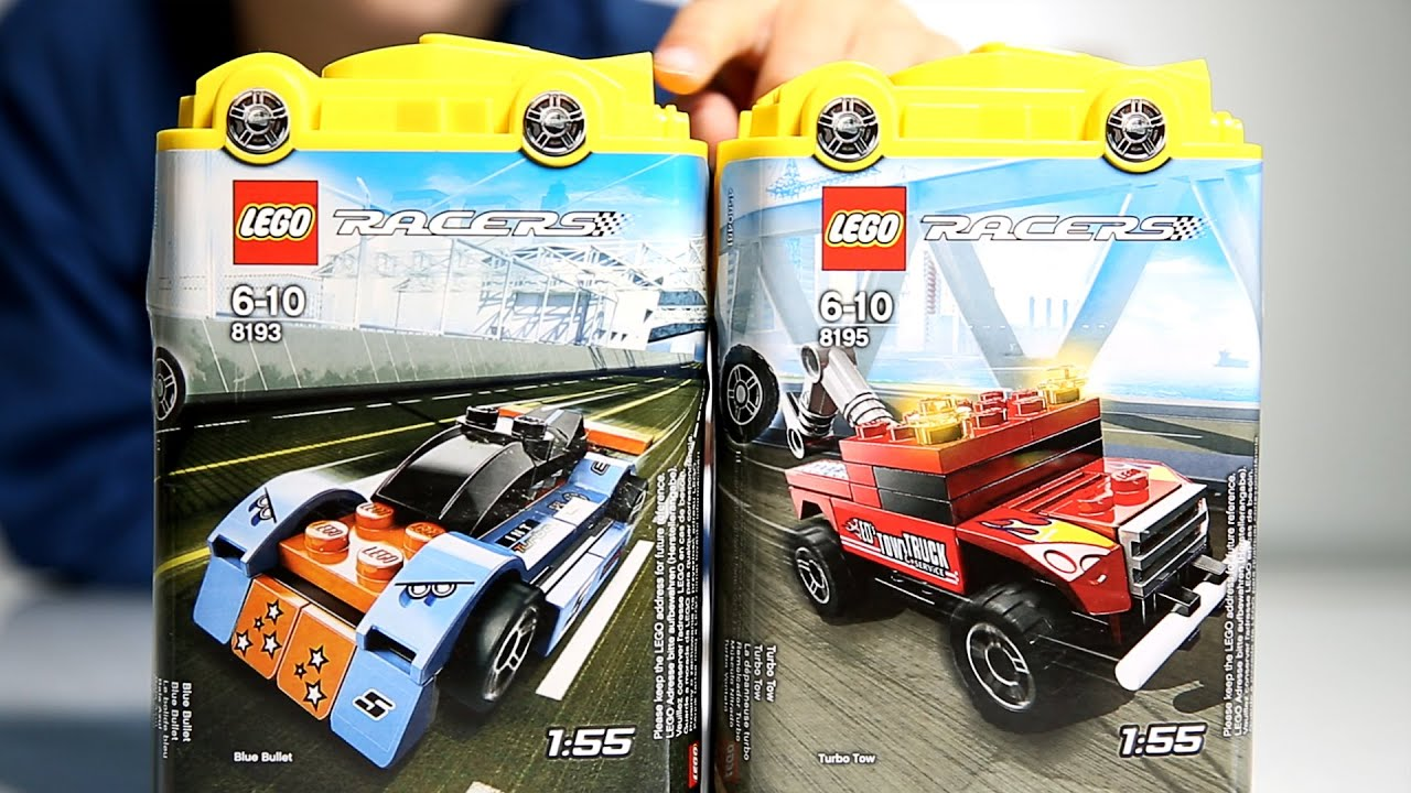 Lego Racers Blue Bullet And Turbo Tow Sets Youtube