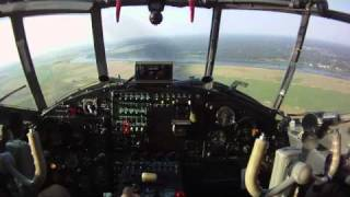 An-2 fast descent and landing cockpit view HD