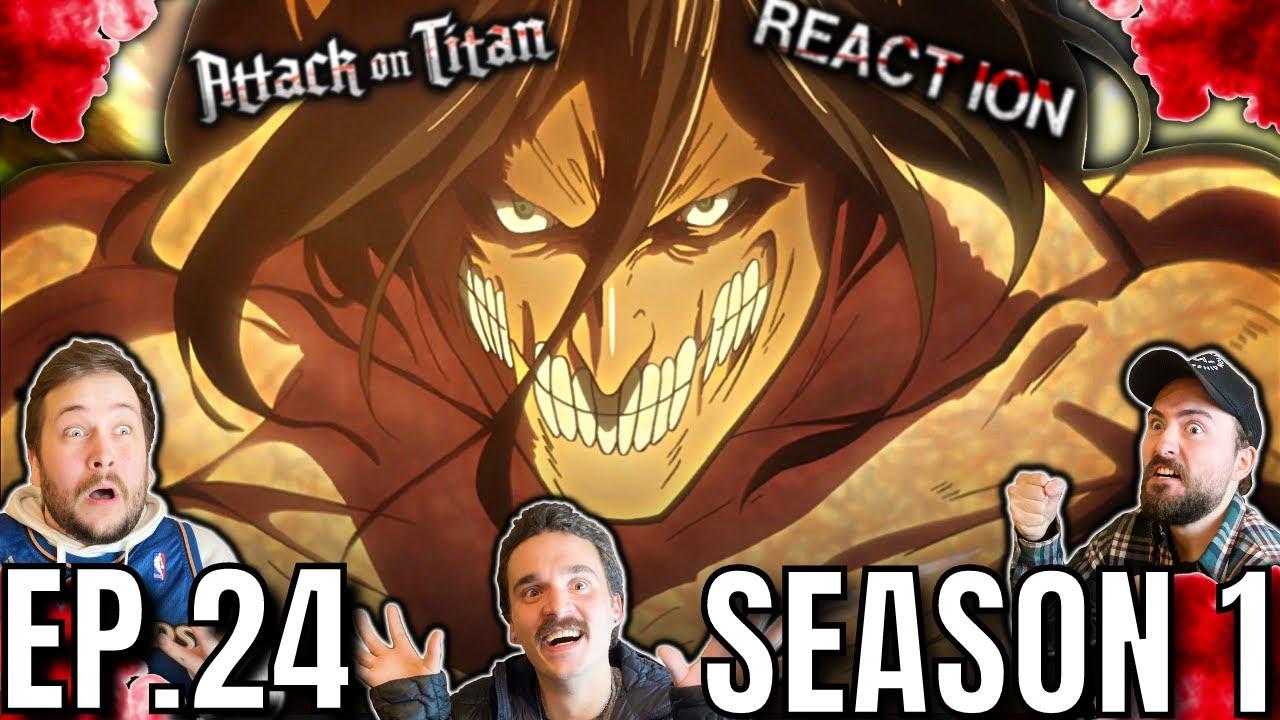 Attack On Titan FINALE REACTION | 1x24 | Mercy: Raid on Stohess District Part 2