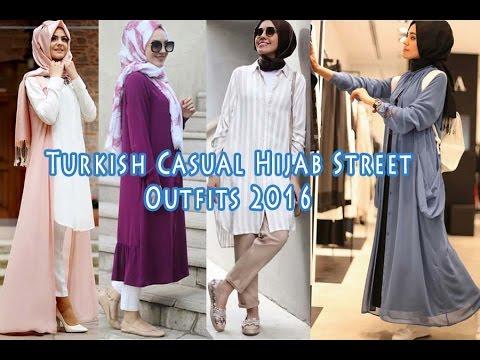 f0a4e8a2d Turkish Casual Hijab Street Outfits 2016 ملابس كاجوال تركية للمحجبات ...