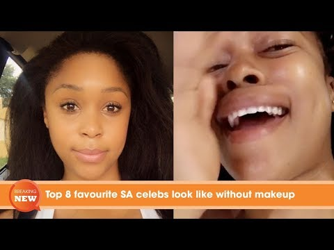 Top 8 favourite SA celebs look like without make up