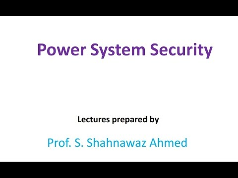 Operation & Control- Tutorial- Power System Security| Slide 6