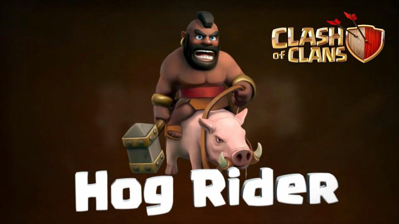 COC - Hog Rider lvl1 attack TH7 vs TH8 Friendly battle ...
