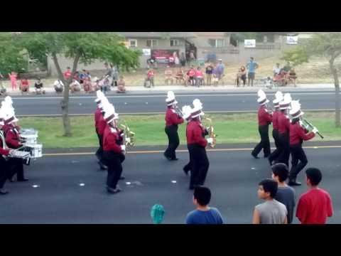 Baldwin High school marching band at 2016 Maui county Fair parade