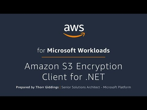 Amazon S3 Encryption Client for .NET