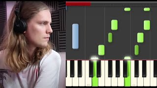 Daði Freyr Think About Things  Piano Cover Midi tutorial Sheet app  Karaoke