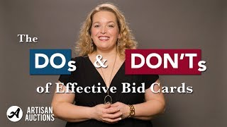 Benefit Gala Tips & Tricks | Best Practices For Effective Bid Cards