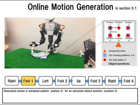 Online Motion Generation with Sensory Information and Instructions by Hierarchical RNN