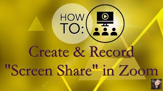 How to Record a Screen Share for Virtual Presentations: Zoom & Webcam Virtual PPT Presentation