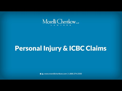 Personal Injury & ICBC Claims with Morelli Chertkow Lawyers