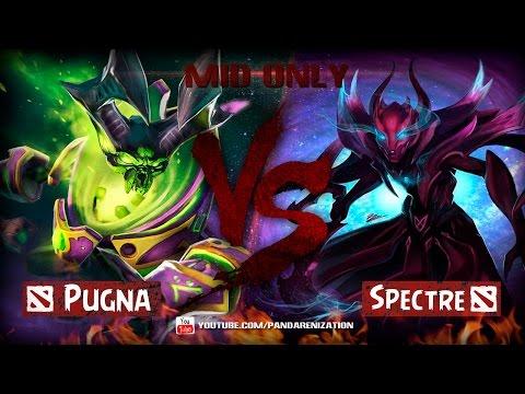 видео: pugna vs spectre [Битва героев mid only] dota 2