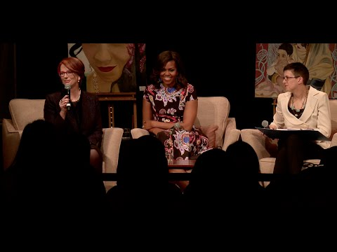 The First Lady Participates in a Conversation on Let Girls Learn