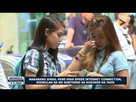 NEWS BREAK: Mababang singil pero high speed internet connection, sisimulan na ng gobyerno next year