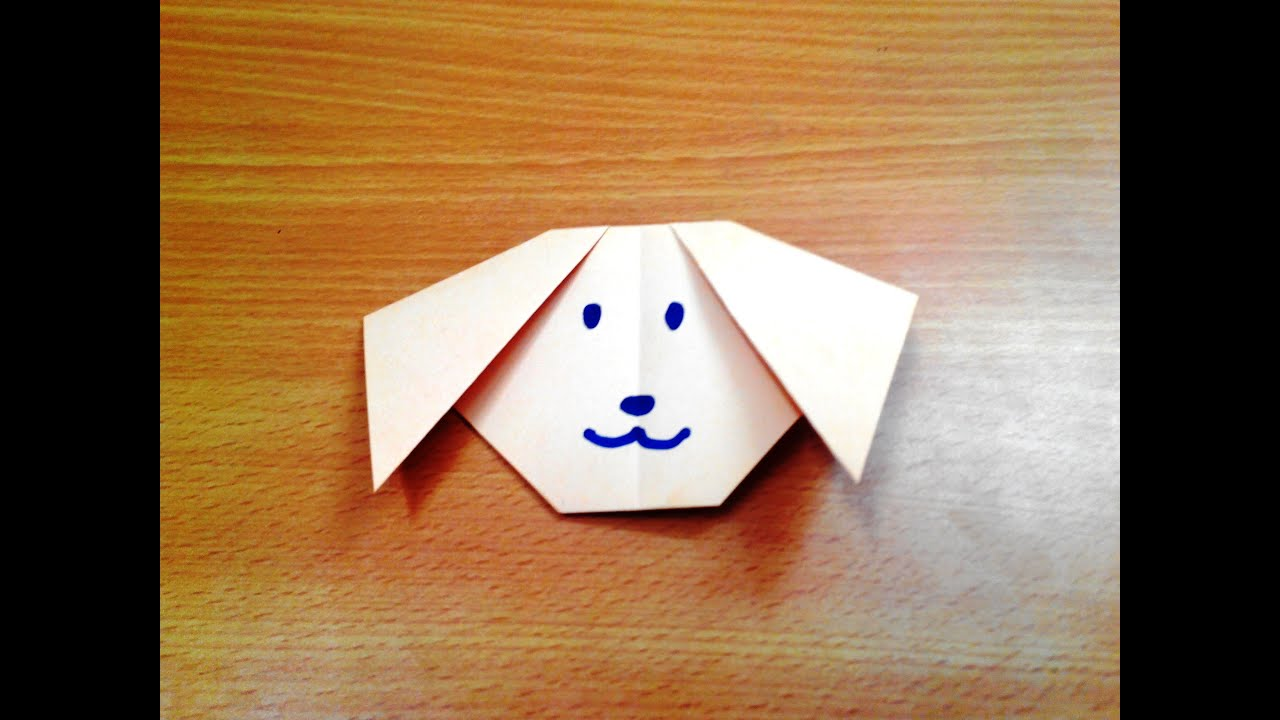 How to make an origami dog face step by step youtube jeuxipadfo Gallery