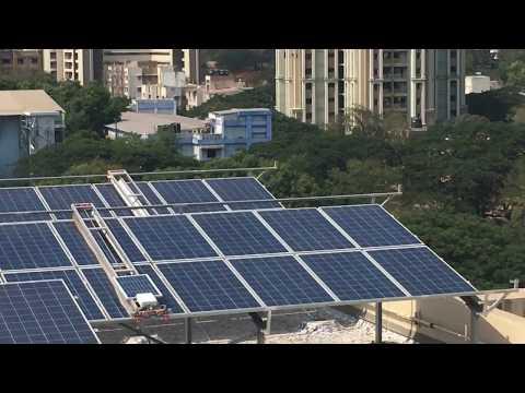 Solar module cleaning field
