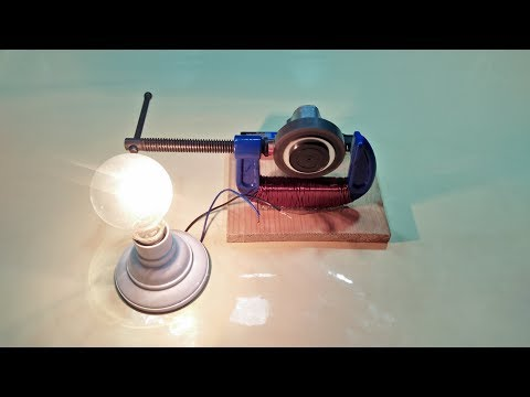 Make Free Energy Generator homemade With Metal Mini Vise and copper wire and motor output 230 volt
