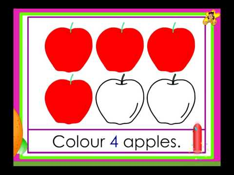 Kindergarten counting worksheet count and do