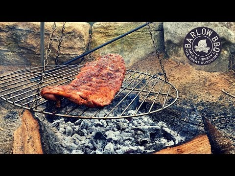How To Cook Ribs Over A Campfire | Fire Roasted Baby Back Ribs | Barlow BBQ