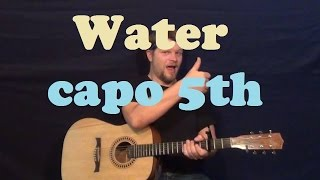 Water (Brad Paisley) Easy Strum Guitar Lesson How to Play Tutorial - Capo 5th Mp3