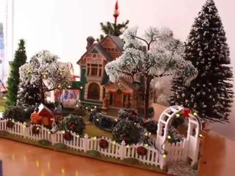 lemax christmas village displays miniature garden dioramas 1 - Miniature Christmas Town Decorations