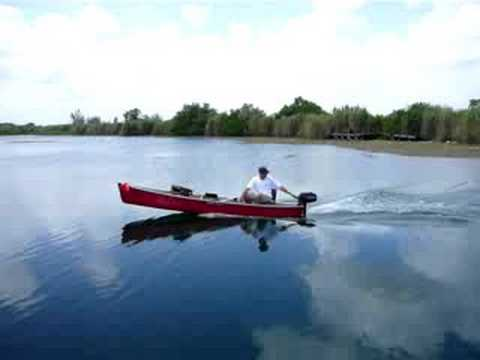 Canoe With Motor Youtube