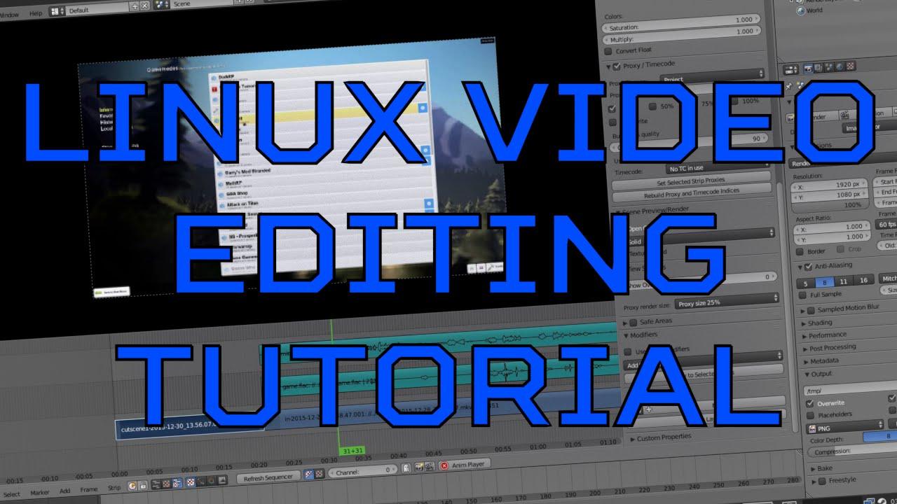 Linux (Blender, Audacity, & FFmpeg) Video Editing Tutorial