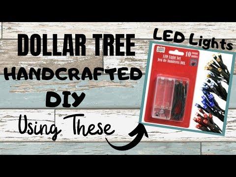 Dollar Tree HANDCRAFTED DIY using LED LIGHTS