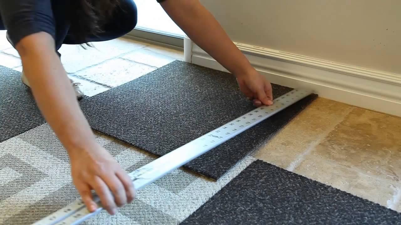 How To Install Carpet Tile Flooring Youtube | Carpet Squares For Steps | Kajaria Staircase | Stair Runner | Dean Wrap Around Treads | Communal Stairway | Flower Design