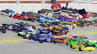 NASCAR Racing Crashes #5 | BeamNG Drive
