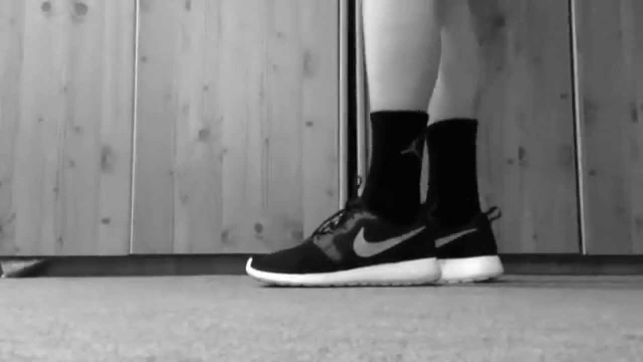 check out d6c9a e0aa6 ... review 29acc dcbde greece nike roshe run hyperfuse blue on feet youtube  f3c7a d7ab6 ...