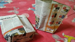 Easy paper bag/ kagojer thonga. .