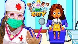 На приёме у ЗУБНОГО ВРАЧА лечим зубы Играем в больницу для детей KIDS CHILDREN