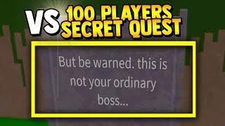 100 PLAYERS vs SECRET BOSS!! | Build a boat for Treasure ROBLOX