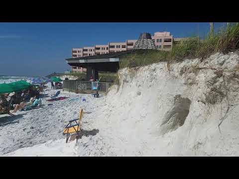 Major beach erosion at Jetty East condos in Destin