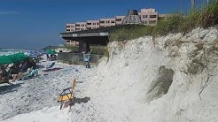 Major beach erosion at Jetty East condos in Destin