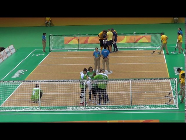 2016 Paralympic Games Goalball Men's Semifinal Lithuania v Sweden1st Half