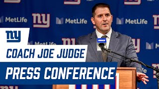Giants Head Coach Joe Judge Introductory Press Conference | New York Giants