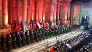 برعاية السيد الرئيس بشار الأسد رئيس الجمهورية العربية السورية أقيم فعالية بوابة الشمس في مدينة تدمر