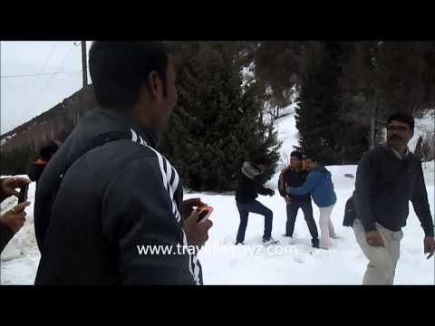 Bishkek Tourism, Indian Tourists in Ala Archa, Bishkek, Kyrgyzstan