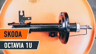 How to change Struts SKODA KAMIQ - step-by-step video manual