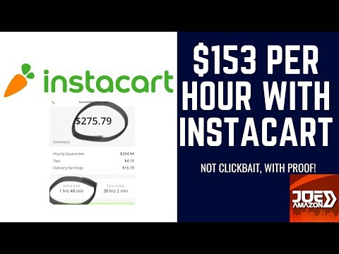 $153 Per Hour With Instacart (Not Clickbait!)