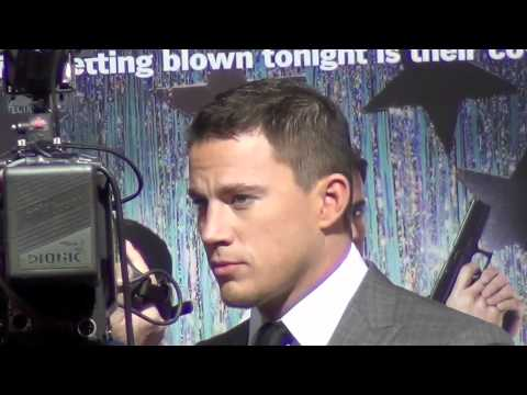 Channing Tatum and Jonah Hill at 21 Jump Street Movie Red Carpet Premiere Hollywood