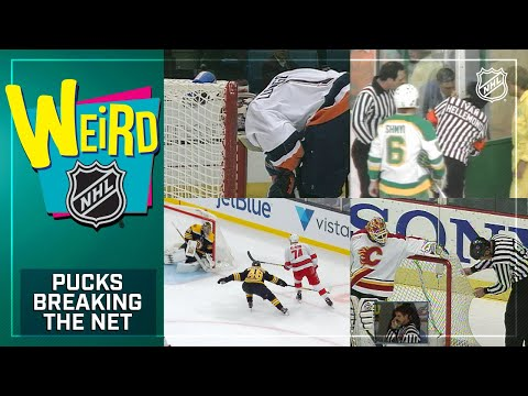 Weird NHL Presents: Pucks Breaking Through The Net